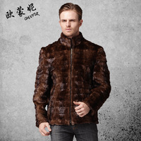 2014 mink fight mink outerwear male mink fur coat male men's fur clothing fur coat