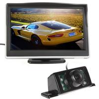 5 Inch TFT LCD Digital Color Display Screen Car Rear View Monitor With 7 IR Night Vision Car Rear View Reversing Backup Camera
