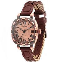 New Julius Brand Women Vintage Watch,Retro Quartz Watches For Ladies, Braided Leather Strap Watch Roma Hours Waterproof