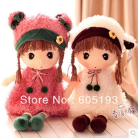 0033 Free Shipping 2014 New arrival cartoon winter animal girl plush doll toy birthday gift wholesale