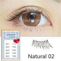 Natural makeup bare short design nude makeup false eyelashes handmade winged half eyelash Free shipping