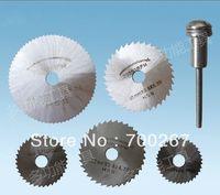 5pcs HSS Saw Blades Rotary Tool Circular Saw Blade Mandrel fit Dremel W/ Shank  free shipping