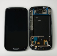 Original Black Color LCD Screen + Touch Screen Digitizer with Frame Assembly  For SamSung Galaxy S3  S III i9300 Free shipping