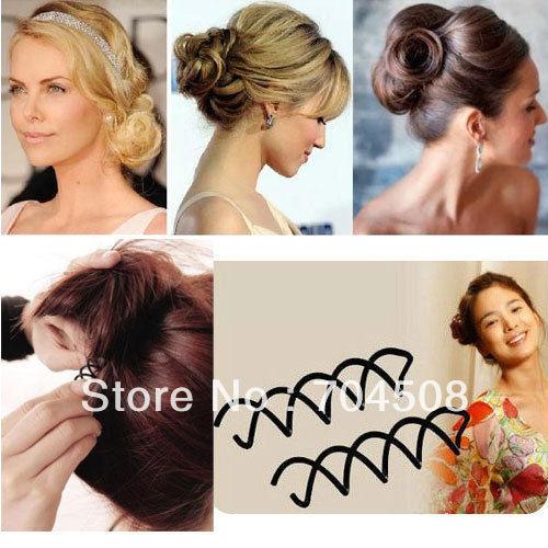 FD170 Women Girl Spiral Spin Screw Pin Magic Barrette Hair Clips Stick ~10PCs~(China (Mainland))