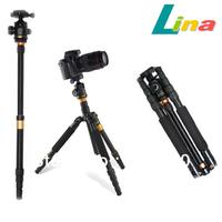 Portable Camera Tripod Monopod 10kg Loaded With Tripod Head For Digital SLR Camera Camcorder