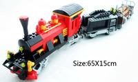 Ausini Steam Train Building Blocks Hot Toy Construction Sets Educational Bricks Toy for Children Compatible Blocks Gift