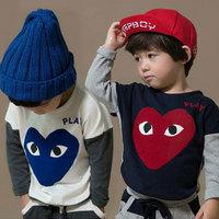 spring 2014 and autumn batwing sleeve boys clothing child long-sleeve T-shirt tx-2525 basic shirt