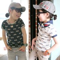 2014 summer motorcycle clothing boys girls clothing baby child short-sleeve T-shirt tx-1048