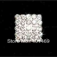 New fashion 2014 60pcs lot silver crystals button accessories