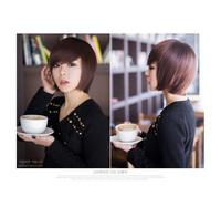 New fashion short rinka hairstyle sraight gradient bang wig