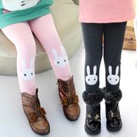 2013 autumn and winter girls clothing child plus velvet thickening long trousers legging kz-2680