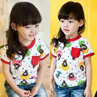 2014 summer multi-colored bear girls clothing baby child short-sleeve T-shirt tx-0866