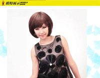 Stylish women's fashion hot selling short straight wigs