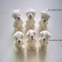 1000pcs 3cm/4cm Joint Bear Doll Mini Plush Teddy Bear Cute Cell Accessories Mobile's Pendant