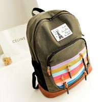 printing backpack  rainbow backpack women canvas school backpacks zipper backpacks