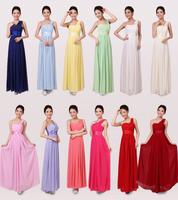 2014 Plus Size long wedding dress formal party dresses one shoulder chiffon modest Bridesmaid dresses gown vestido de madrinha