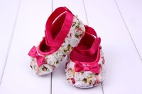 free shipping Very Cute! children's shoe Flowers shading bow Baby Shoes soft sole baby shoe Girls Warm