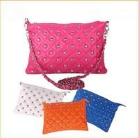 2014 Fashion Woman handbag ,Winter Rivet Chain Vintage Envelope Messenger Bag Women's Day Clutch handbags desigual Free Shipping