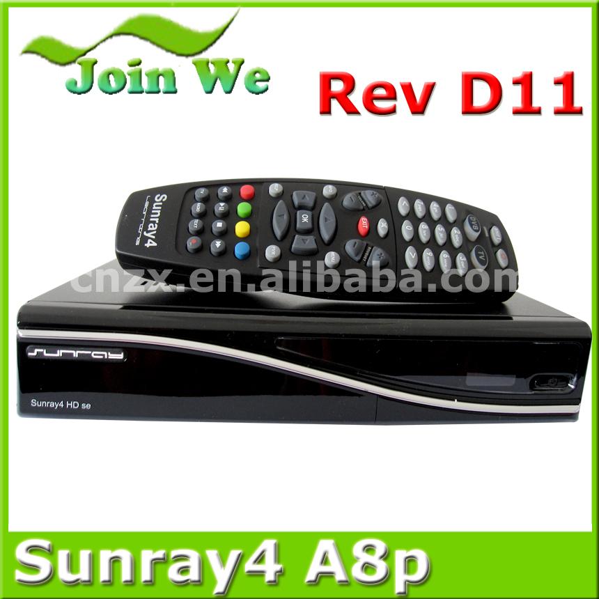 Free shipping Sunray SR4 a8p sim card Sunray4 wifi sr4 Triple Tuner Rev D11 Wifi Internal a8p Satellite recoder triple tuner(China (Mainland))