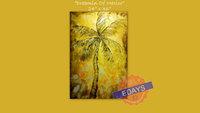 "Large 48"" x 24"" Dreamin of Mexico  Modern Custom Beach Decor Ocean Decor Palette Knife Thick Impasto Palm Tree Painting"