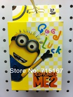 Wholesale Pokers 15sets/lot New arrival Hot movie Despicable Me 2 3D Minions Pokers Anime Figure Poker