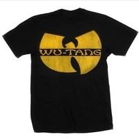 Custom Bravado Men's Wu-Tang Clan Distressed Logo T Shirts, diy shirts .print design logo t shirts .leave message man or women