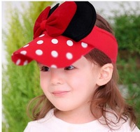 free shipping 1-5 years old  2014 new design spring and summer the child color bow Hat, fashion children cap