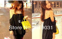 Free shipping 2014women blouses blusas femininas three quarter chiffon blouse