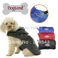 Free shipping!  MOQ: 1PC,  Pet Dog Doggy Raincoat Rain Coat Jacket Waterproof Outdoor