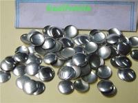 Free shipping 2014 fashion 7mm silver round aluminium panel pressing hot fix nailhead Rhine stud DIY Spike accessories 500pc/lot