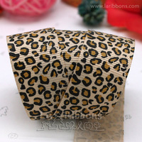 "wholesale+free shipping 7/8"" gift and chocolate box packing ribbon leopard printed 20yds/roll garment accessories"