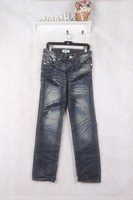 autumn and winter men's jeans pants straight water wash