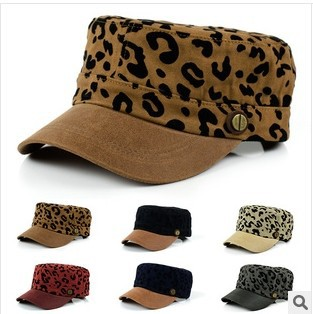 The new cap sub fashionable men and women along the leopard skin flat cap baseball cap wholesale manufacturers(China (Mainland))