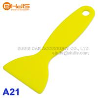 "Wholesale High Quality 3"" Plastic Squeegee Yellow scraper  Car wheel/ accessory / wrap film install scraper tools 10pcs A21"