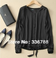 2014 Spring European Brand Single-breasted Basic Female Chiffon Blouse