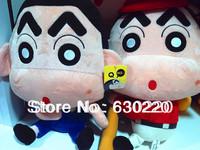 High quality Japanese Anime Cartoon dolls Crayon Shin chan Plush 40cm Red/Blue Baseball-Boy Toys for children free shipping