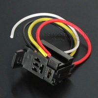 Violet relay socket with cable fuel pump relay socket automotive relay socket