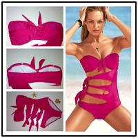 2014 New Fashion vintage Sexy purple bikini swimwear women outdoor fun & sports bathing suit bikini set beach bikini-302