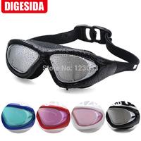 Digesisa oversized electroplating goggles waterproof anti-fog swimming goggles plain glasses hd
