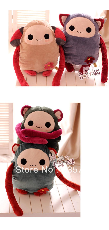 new monkey plush toy stuffed animal long arm dolls Lies pillow cushionl cute cat nice bottom birthday gift for girls(China (Mainland))