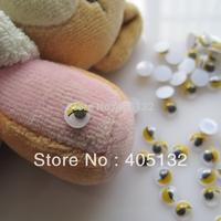 RC-180-2 200pcs/bag Cute 6mm Yellow Eye Resin Decoration Nail Art Decorations