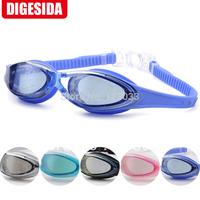 Goggles big box waterproof swimming goggles anti-fog anti-uv wide angle big eye shot glasses