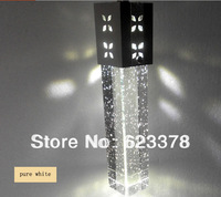 Free shipping DHL/EMS LED lamp 3W Single Ring Pendent lights crystal column bubble column crystal droplight bubble lamp CL12
