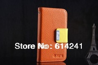 For HTC Desire T328W Desire V / Desire X T328e Flip Wallet Leather Case Cover With Cards Slots Stand Fashion Luxury