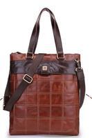 Men's genine leather handbag 100% cowhide bags for men/women brand designer handbag style fashion high quality bag free shipping