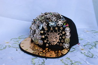 wholesale  2014 new superior quality men and women  Fashion leisure baseball caps,  rivet peaked hats,