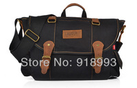 The new retro canvas bag computer bag backpack bag Men's Messenger Bag oblique