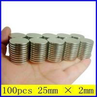 100PCS 25mm Dia  x 2mm N35 Neodymium Magnets Powerful Strong Rare Earth Disc Neo NdFeB Magnet For Warhammer Craft Model Fridge