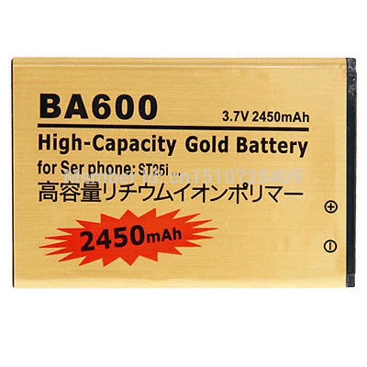 Батарея для мобильных телефонов Gold battery For SONY Ericsson 3.7V 2450mAh SONY Ericsson BA600 ST25i 20pcs/lot