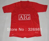Free shipping 07/08 season ronaldo retro classic shirts red USD21.99